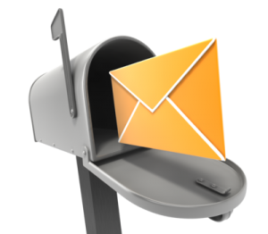 Illustration of an open mailbox with a letter in it.