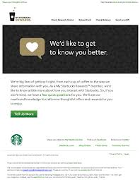 An image of a Starbucks survey invite.