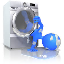 All washed up! Image of a person falling out of a washing machine.