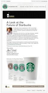 "Email from Starbucks: ""A Look at the Future of Starbucks"""
